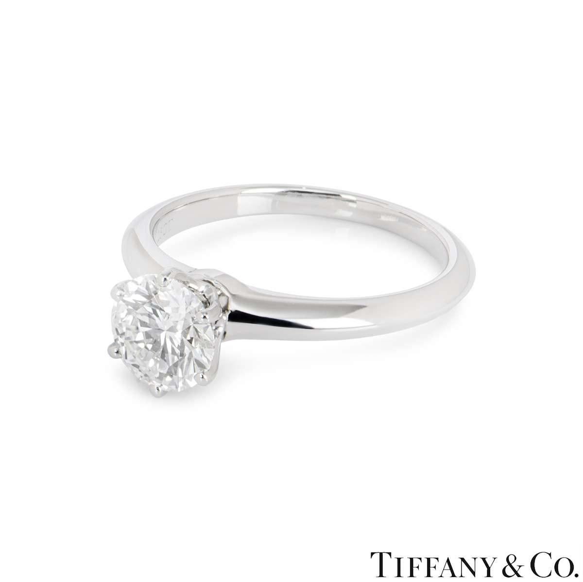 Tiffany & Co. Platinum Diamond Setting Ring 1.25ct H/VS1 XXX